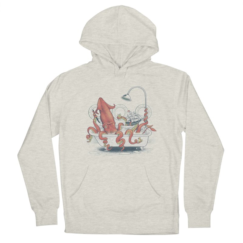 Kraken Bath Time Men's Pullover Hoody by jillustration's Artist Shop