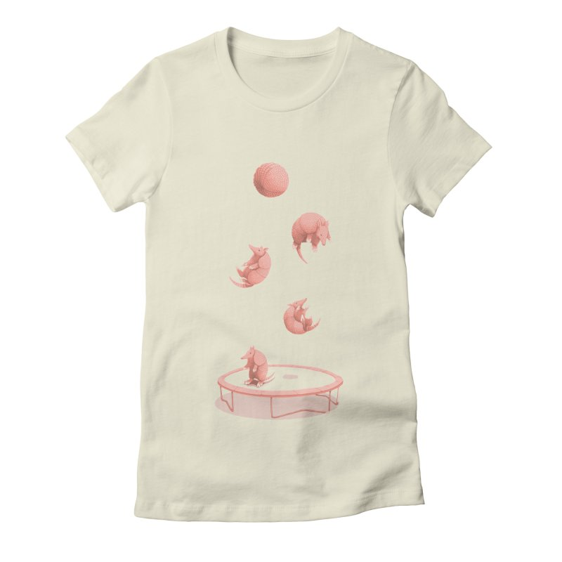 Trampoline Women's Fitted T-Shirt by jillustration's Artist Shop