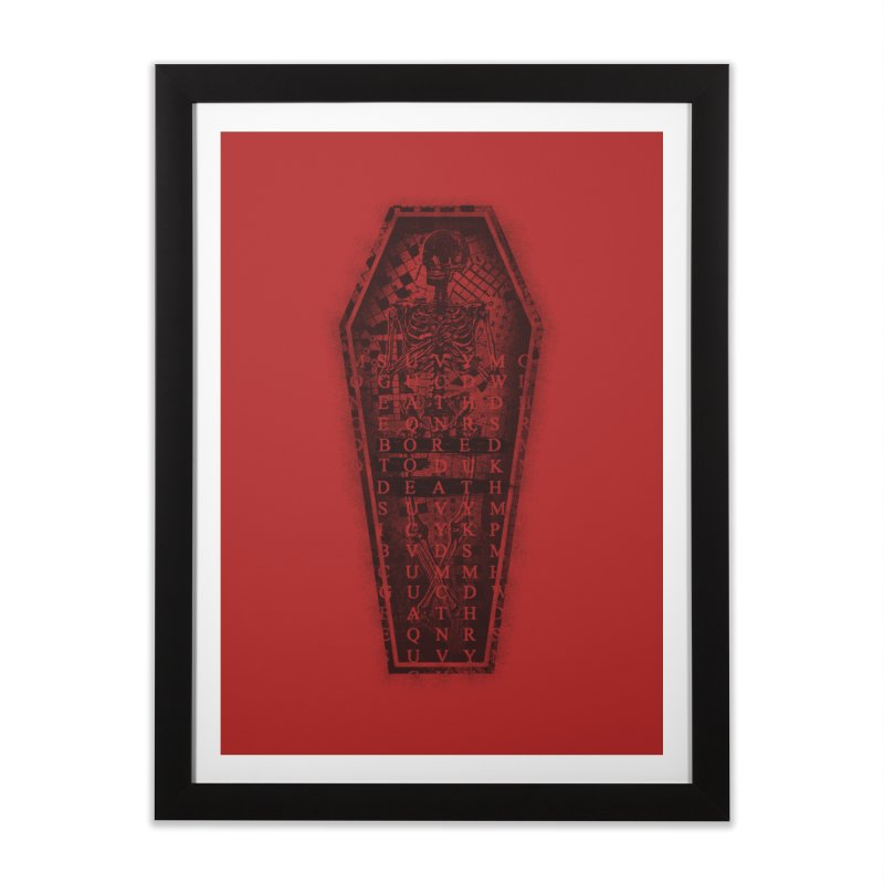 Bored to Death Home Framed Fine Art Print by jimdahousecat