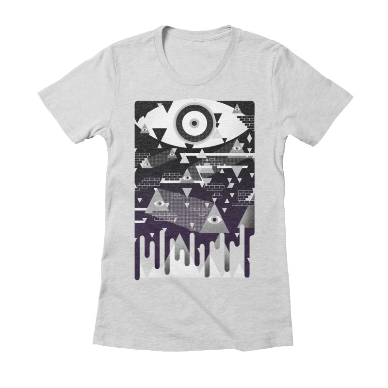 Eyes Women's Fitted T-Shirt by jimdahousecat