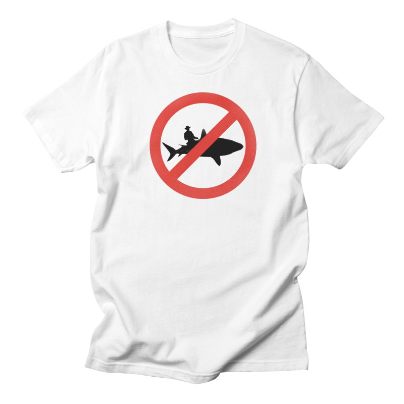 Not During Shark Week Men's Regular T-Shirt by jimdahousecat