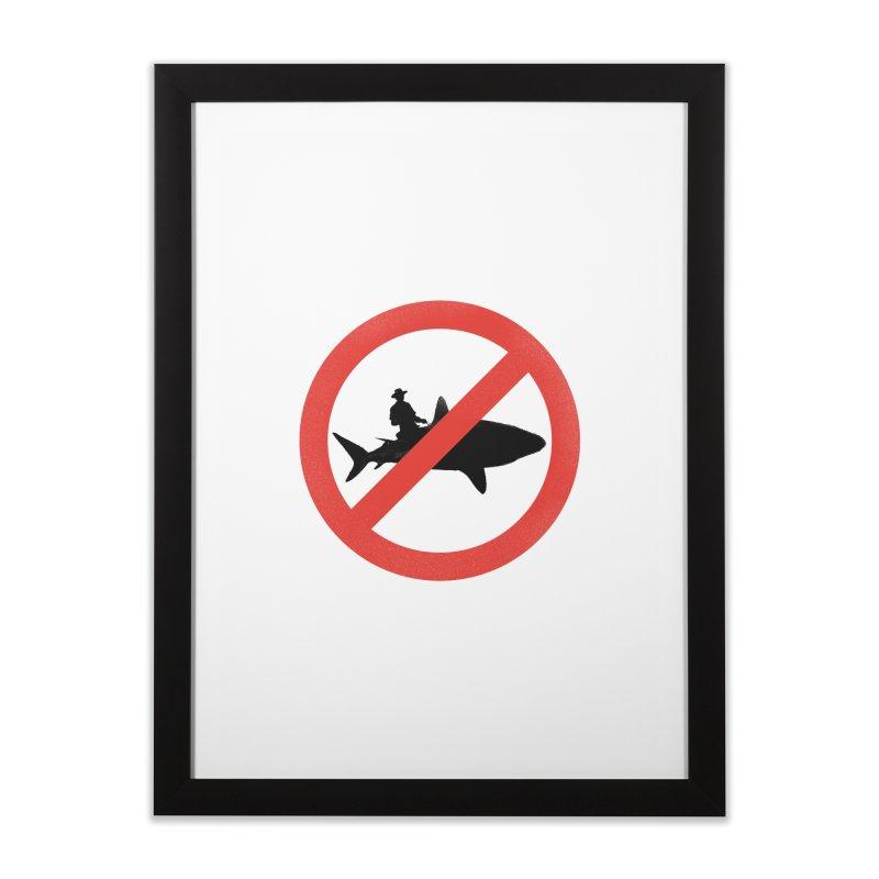 Not During Shark Week Home Framed Fine Art Print by jimdahousecat
