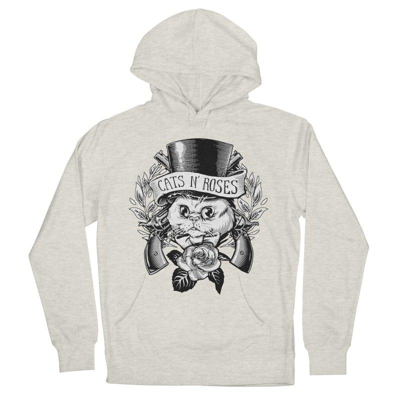 Cats N' Roses Men's Pullover Hoody by jimiyo's Artist Shop