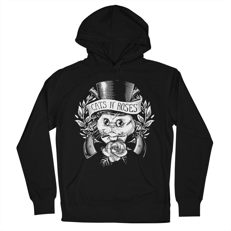 Cats N' Roses Men's Pullover Hoody by jimiyo's Artist Shop