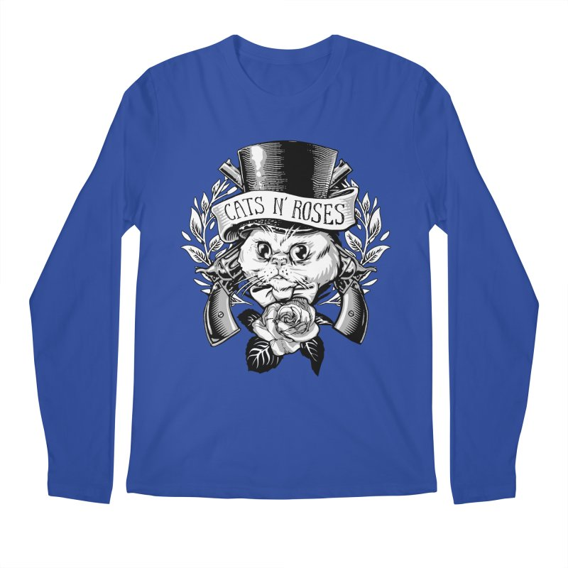Cats N' Roses Men's Longsleeve T-Shirt by jimiyo's Artist Shop