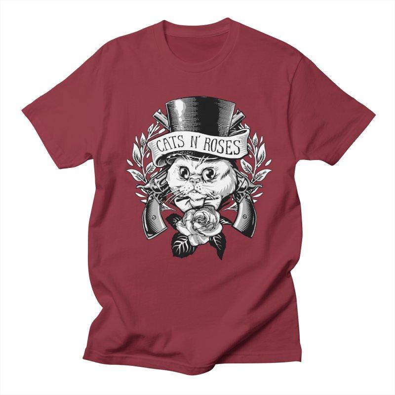 Cats N' Roses Men's T-Shirt by jimiyo's Artist Shop