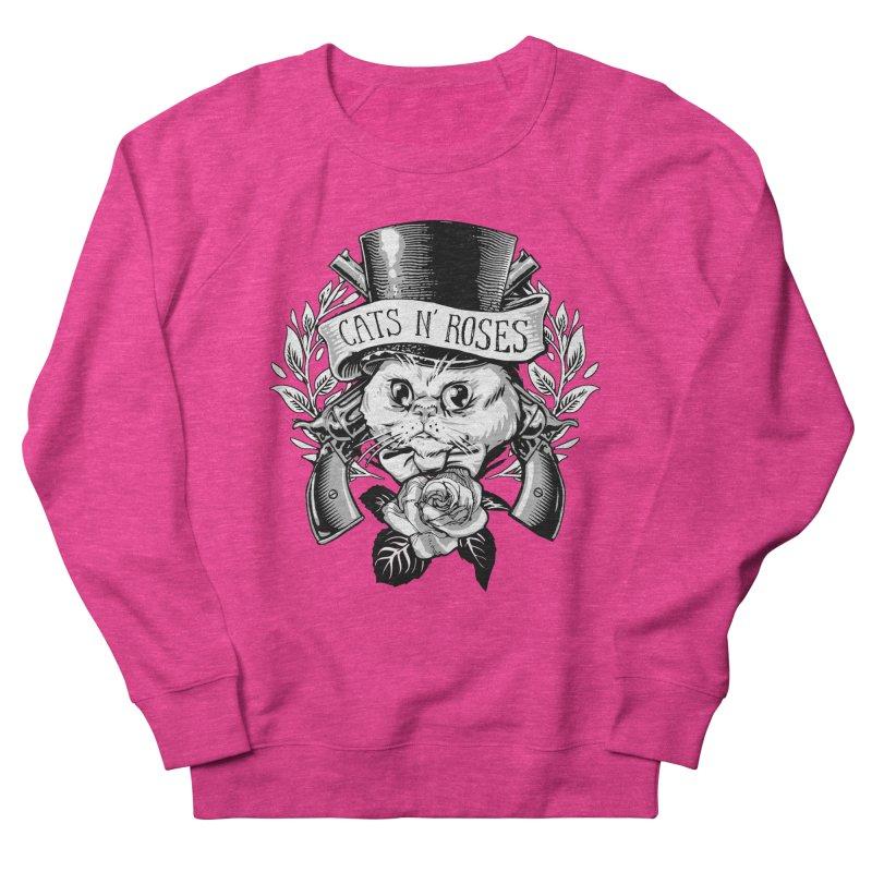 Cats N' Roses Men's Sweatshirt by jimiyo's Artist Shop