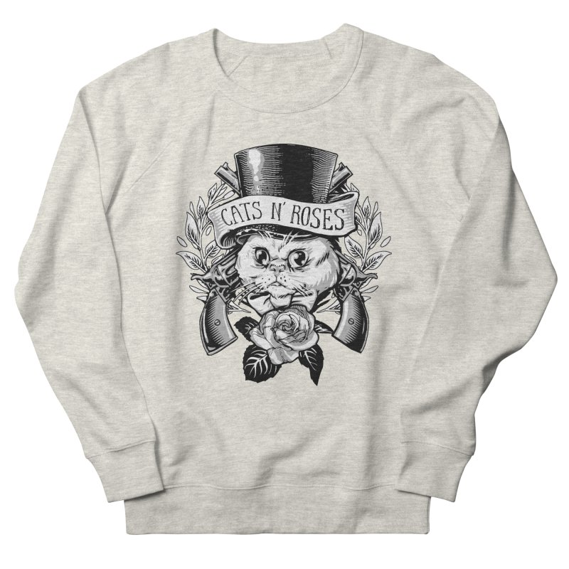 Cats N' Roses Men's Sweatshirt by jimiyo's Artist Shop