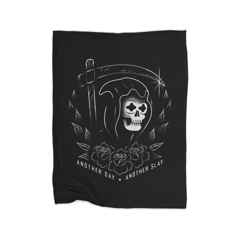 Another Day Another Slay Home Fleece Blanket Blanket by Jimmy Breen Artist Shop