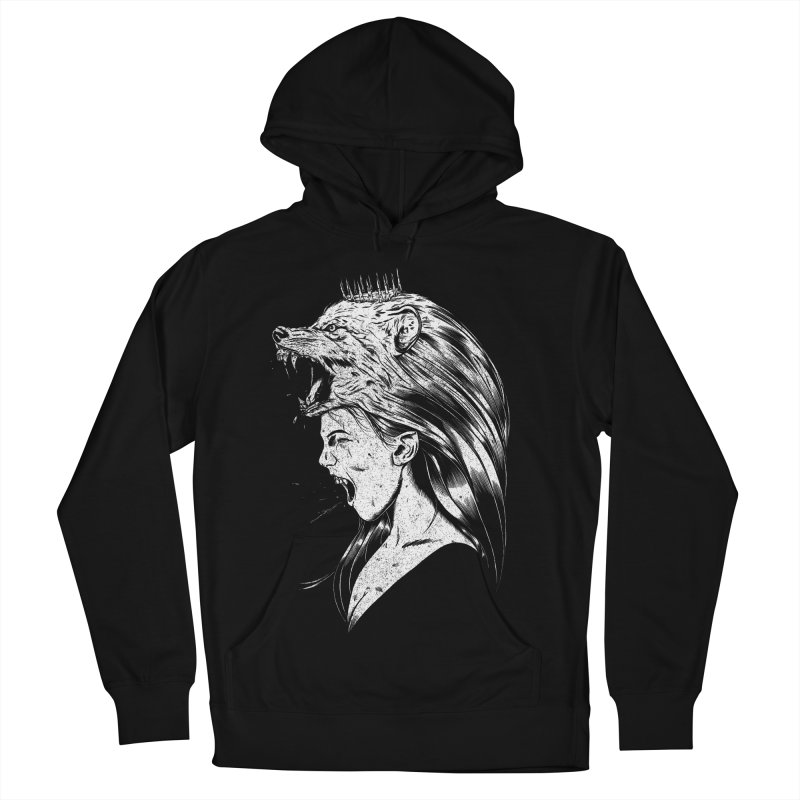 Queen of Anger Women's French Terry Pullover Hoody by Jimmy Breen Artist Shop