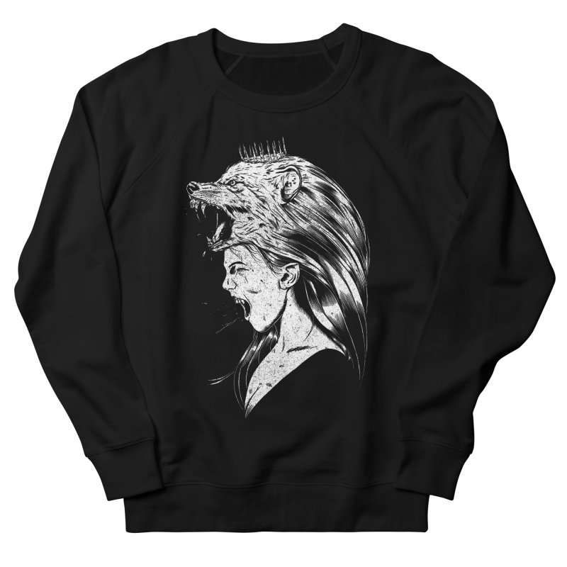 Queen of Anger Women's French Terry Sweatshirt by Jimmy Breen Artist Shop
