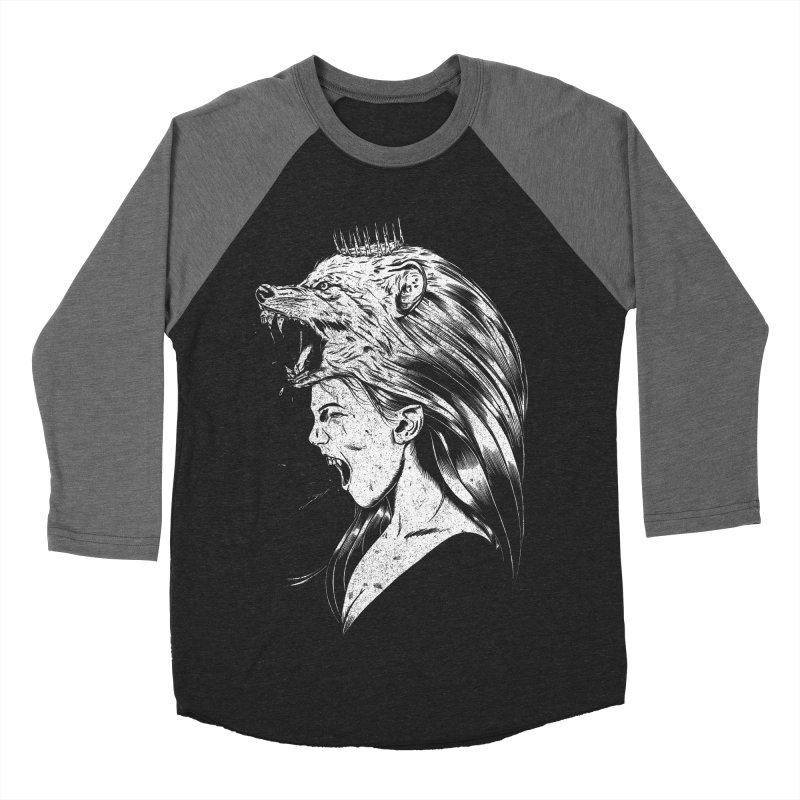 Queen of Anger Men's Baseball Triblend Longsleeve T-Shirt by Jimmy Breen Artist Shop