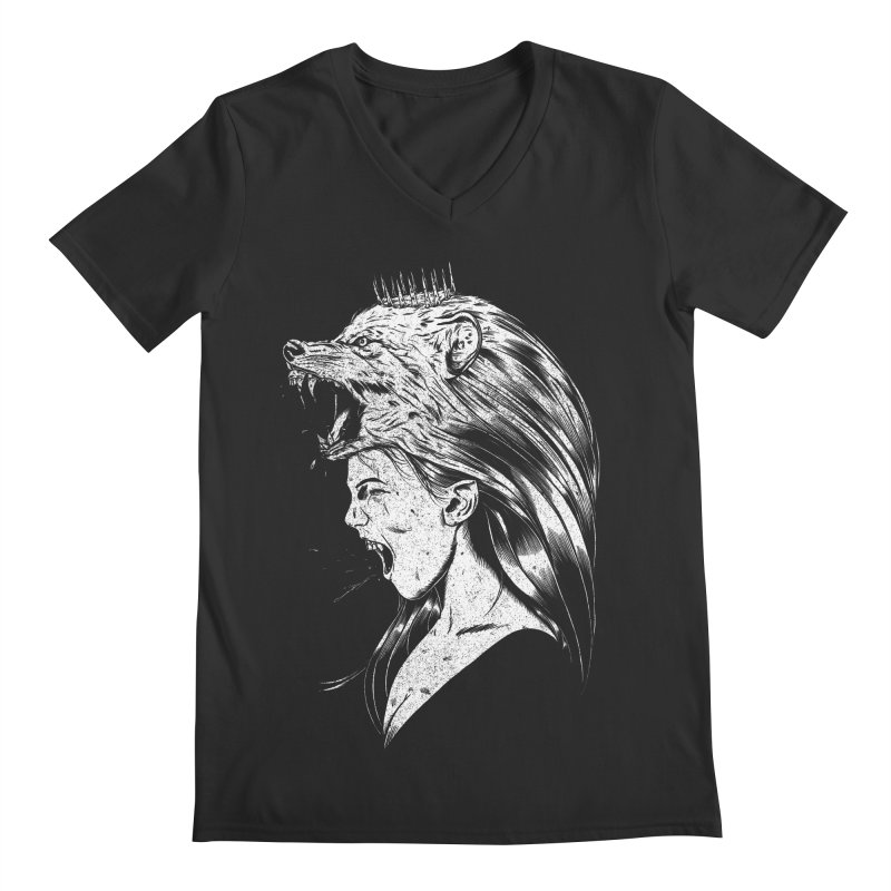 Queen of Anger Men's Regular V-Neck by Jimmy Breen Artist Shop