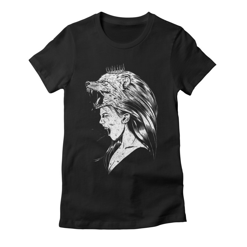Queen of Anger Women's Fitted T-Shirt by Jimmy Breen Artist Shop