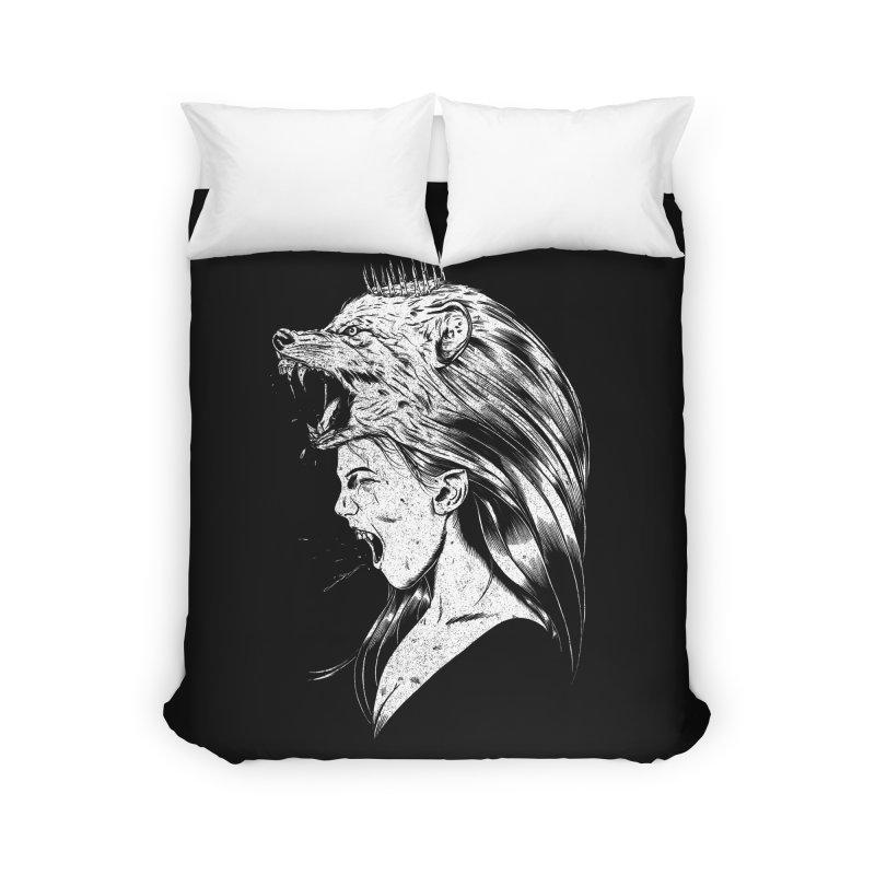Queen of Anger Home Duvet by Jimmy Breen Artist Shop