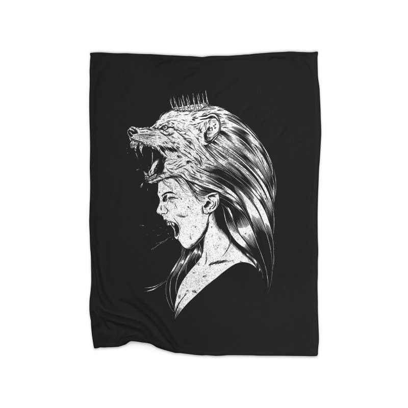 Queen of Anger Home Fleece Blanket Blanket by Jimmy Breen Artist Shop