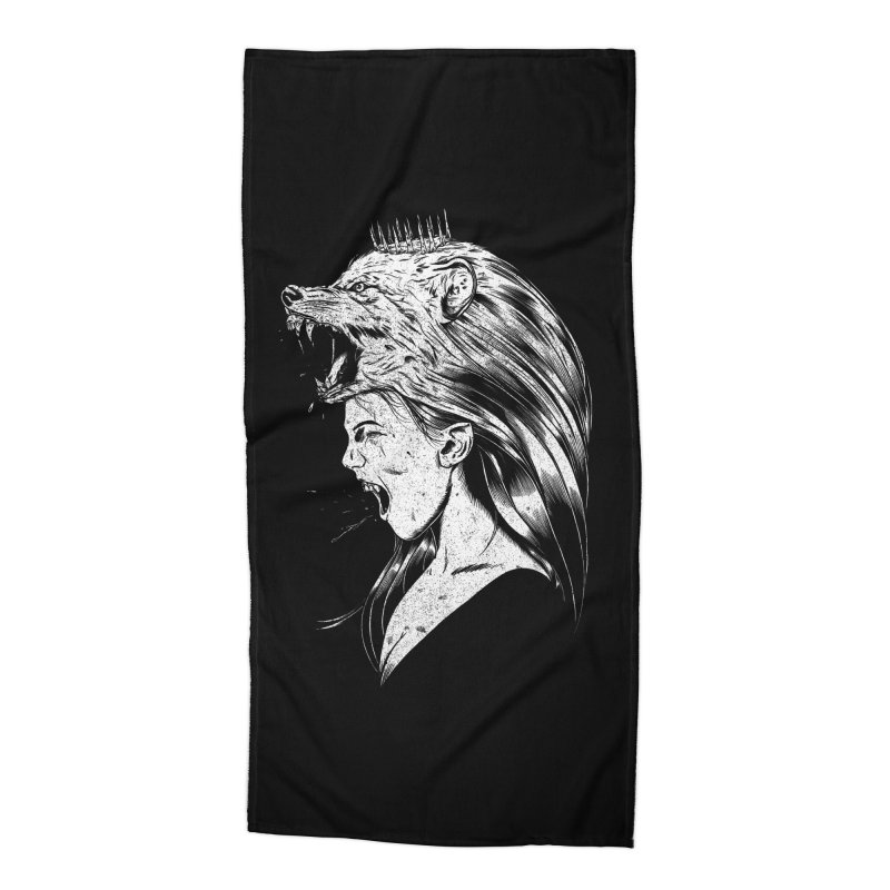 Queen of Anger Accessories Beach Towel by Jimmy Breen Artist Shop