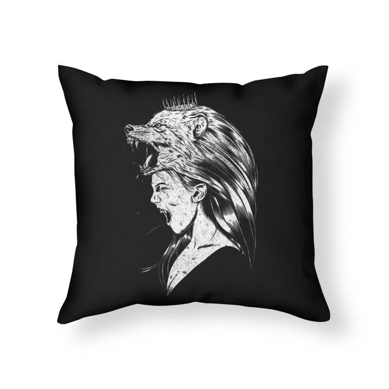 Queen of Anger Home Throw Pillow by Jimmy Breen Artist Shop