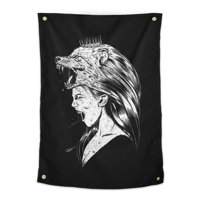 Queen of Anger Home Tapestry by Jimmy Breen Artist Shop