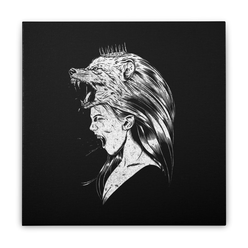 Queen of Anger Home Stretched Canvas by Jimmy Breen Artist Shop