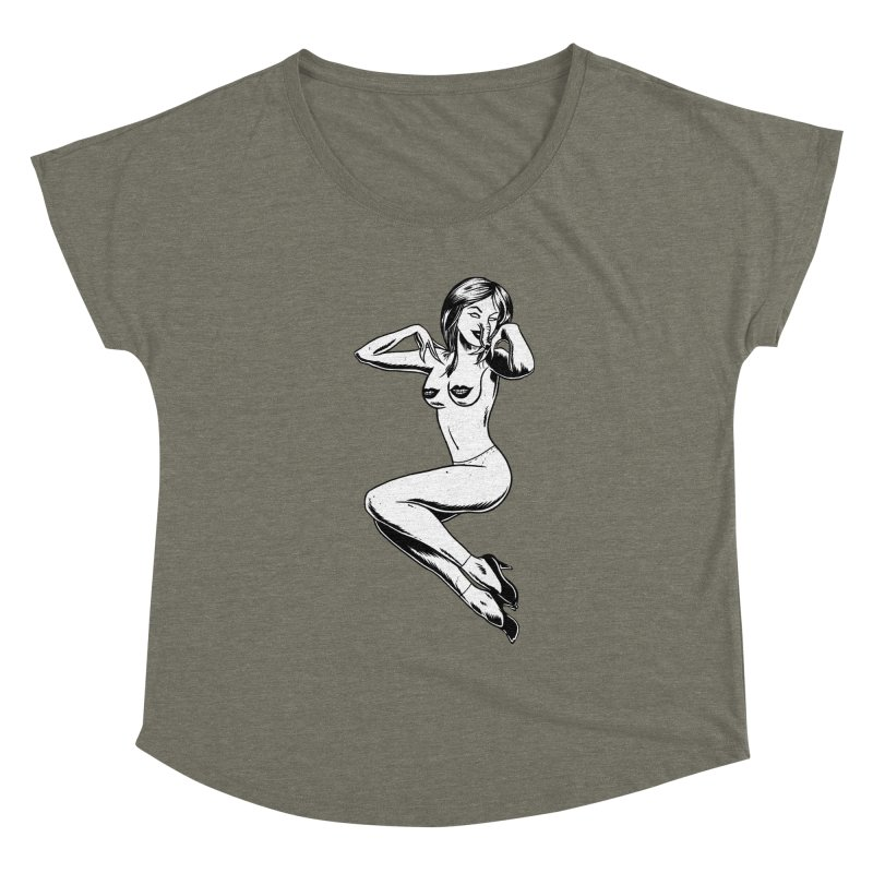 Handling Business Women's Scoop Neck by Jimmy Breen Artist Shop
