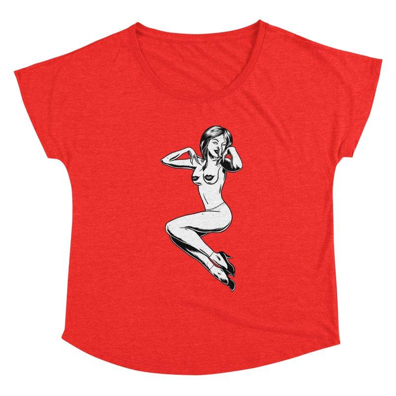 Handling Business Women's Scoop Neck by Jimmy Breen Artist Shop