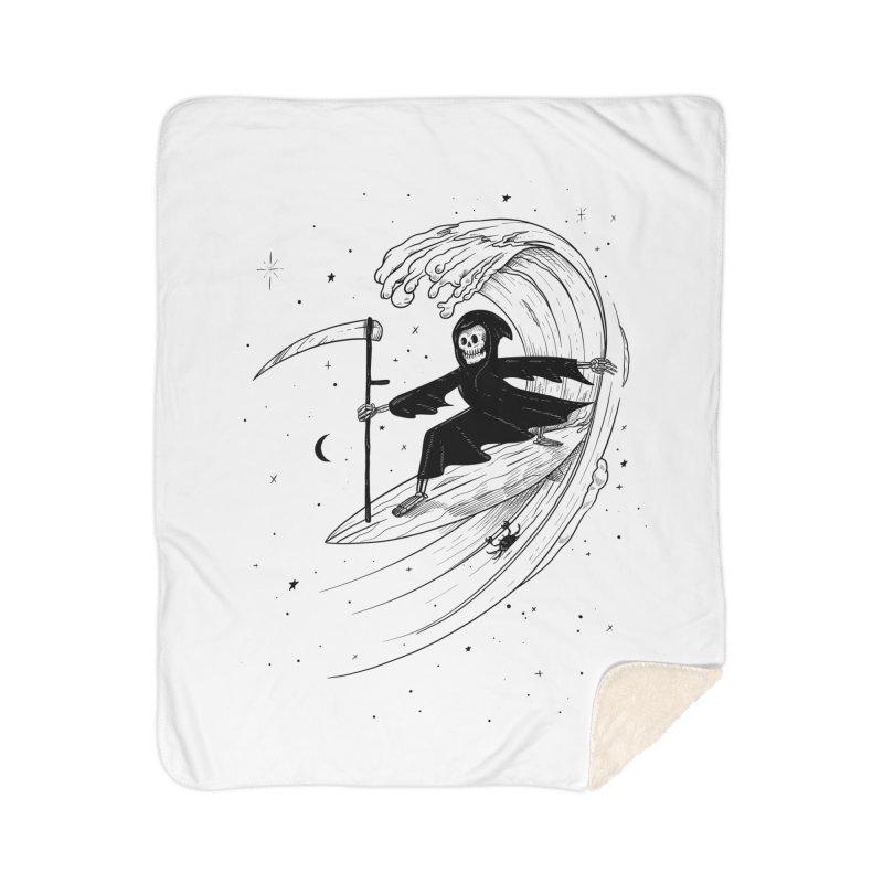 Surf's Up Home Sherpa Blanket Blanket by Jimmy Breen Artist Shop