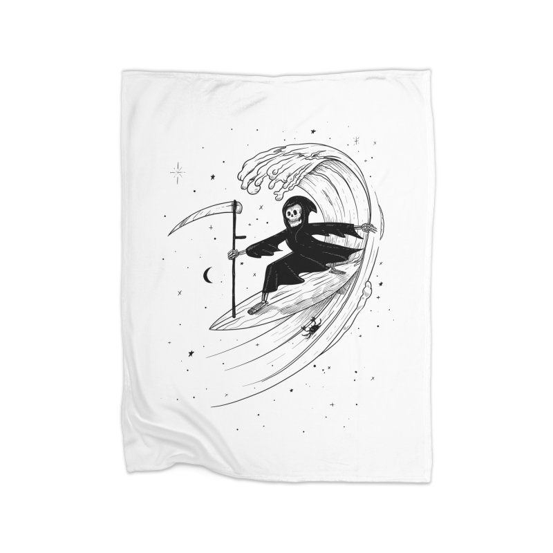 Surf's Up Home Fleece Blanket Blanket by Jimmy Breen Artist Shop