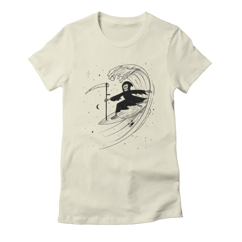 Surf's Up Women's Fitted T-Shirt by Jimmy Breen Artist Shop