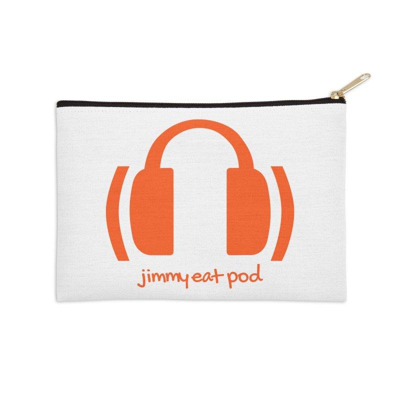Headphones Accessories Zip Pouch by Jimmy Eat Pod's Shop