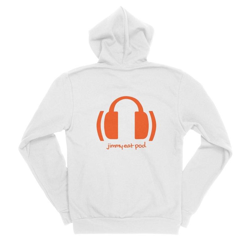 Headphones Men's Zip-Up Hoody by Jimmy Eat Pod's Shop
