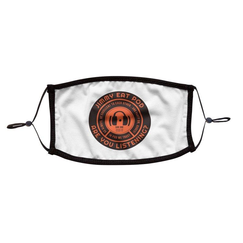 Vinyl Label Accessories Face Mask by Jimmy Eat Pod's Shop