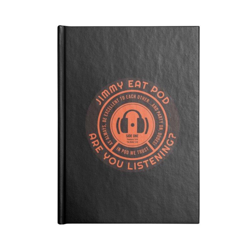 Vinyl Label Accessories Notebook by Jimmy Eat Pod's Shop