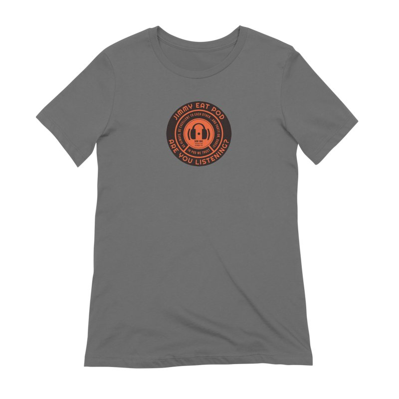 Vinyl Label Women's T-Shirt by Jimmy Eat Pod's Shop