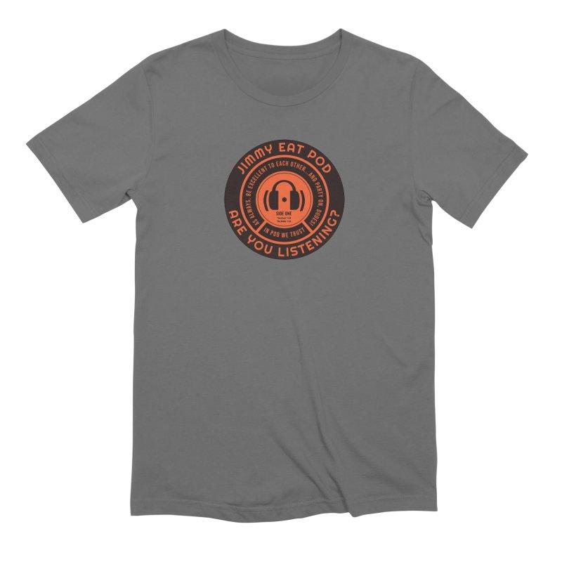 Vinyl Label Men's T-Shirt by Jimmy Eat Pod's Shop