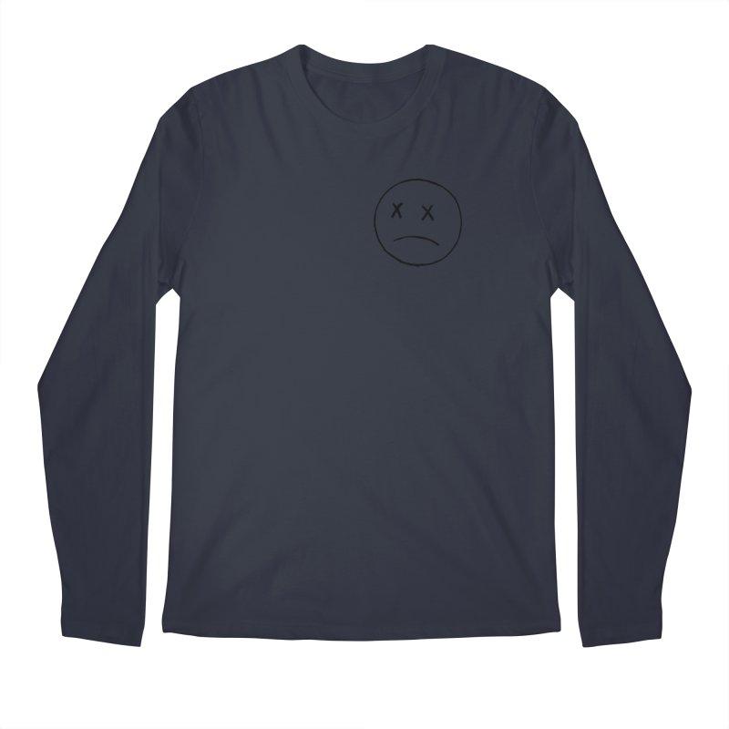 SADBOY OUTLINE BLACK FRONT LOGO TEE Men's Longsleeve T-Shirt by JimmyITK