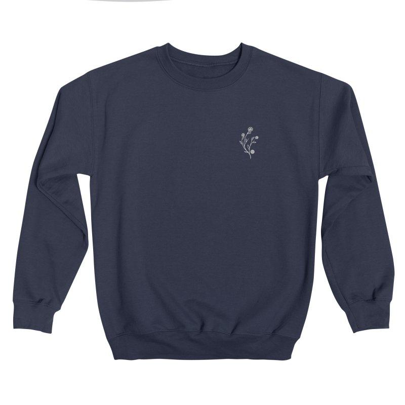 FLOWER CREW NECK - NAVY Men's Sweatshirt by JimmyITK