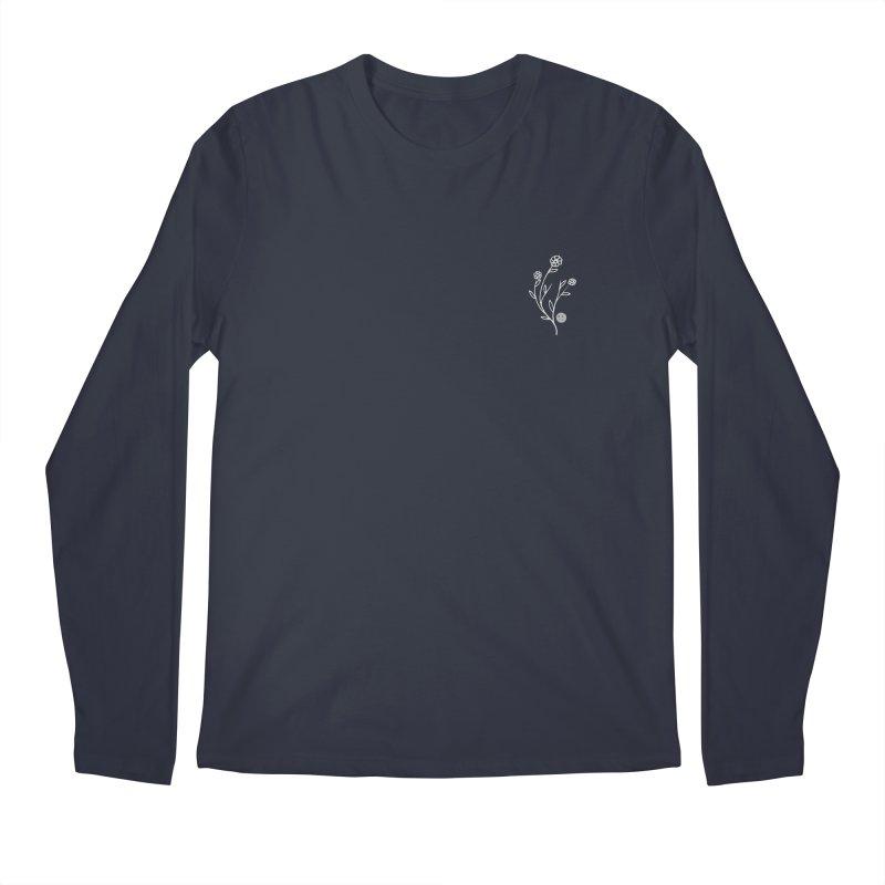 FLOWER LONG SLEEVE TEE - MIDNIGHT Men's Longsleeve T-Shirt by JimmyITK