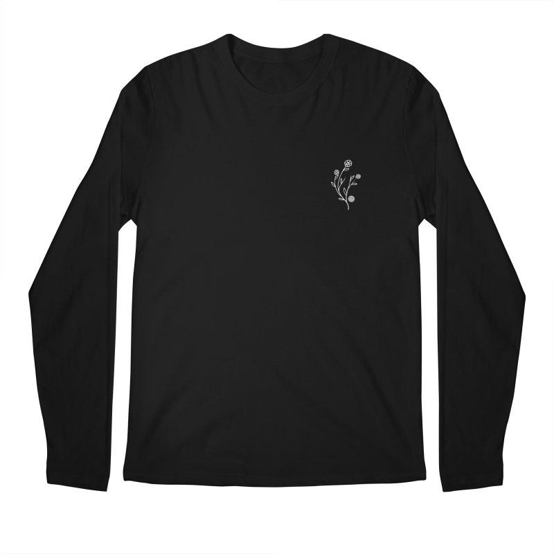 FLOWER LONG SLEEVE TEE - BLACK Men's Longsleeve T-Shirt by JimmyITK