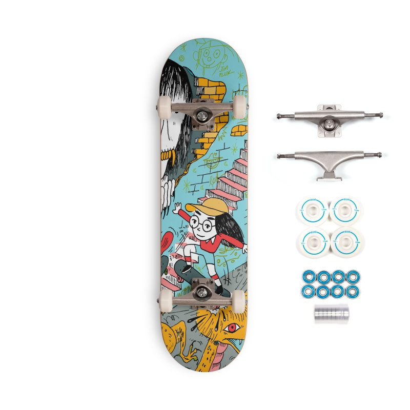 skate your fears Accessories Complete - Basic Skateboard by jimpluk's Artist Shop