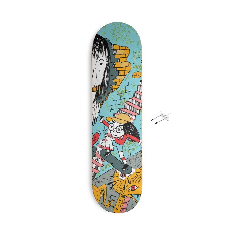 skate your fears Accessories With Hanging Hardware Skateboard by jimpluk's Artist Shop