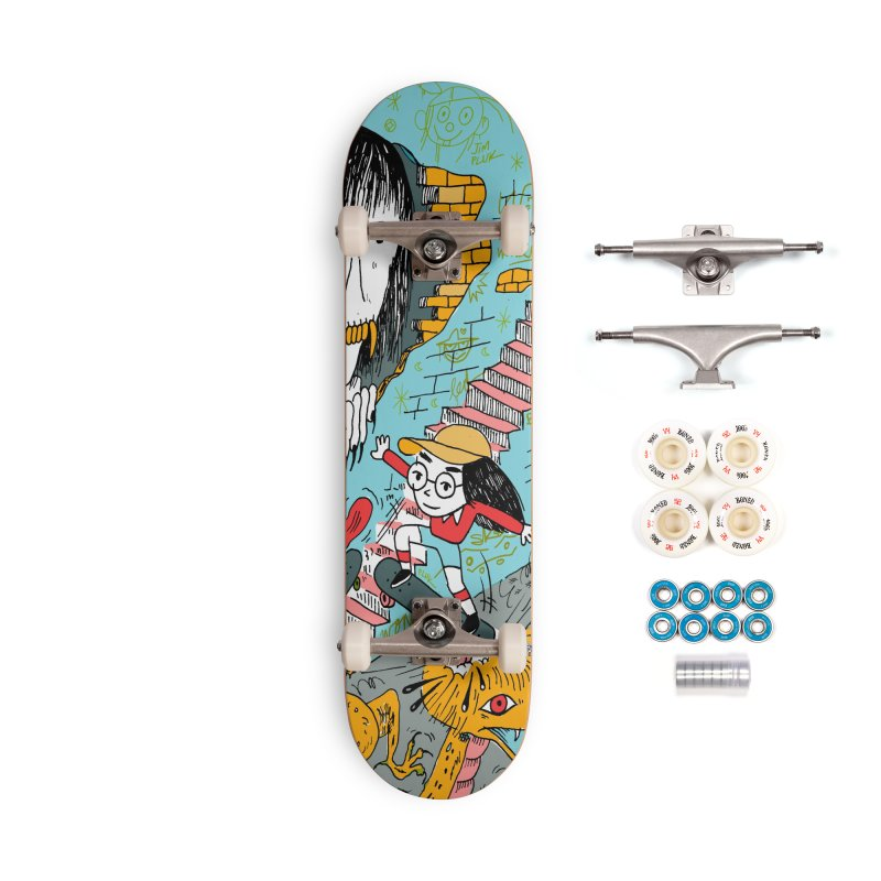 skate your fears Accessories Complete - Premium Skateboard by jimpluk's Artist Shop