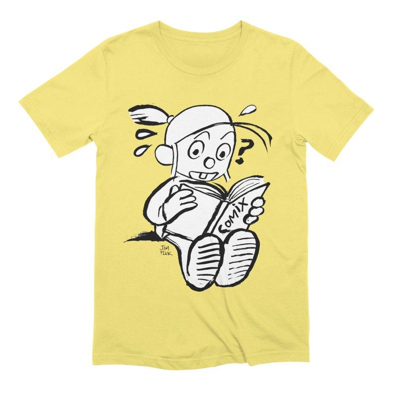 reading comix Men's T-Shirt by jimpluk's Artist Shop
