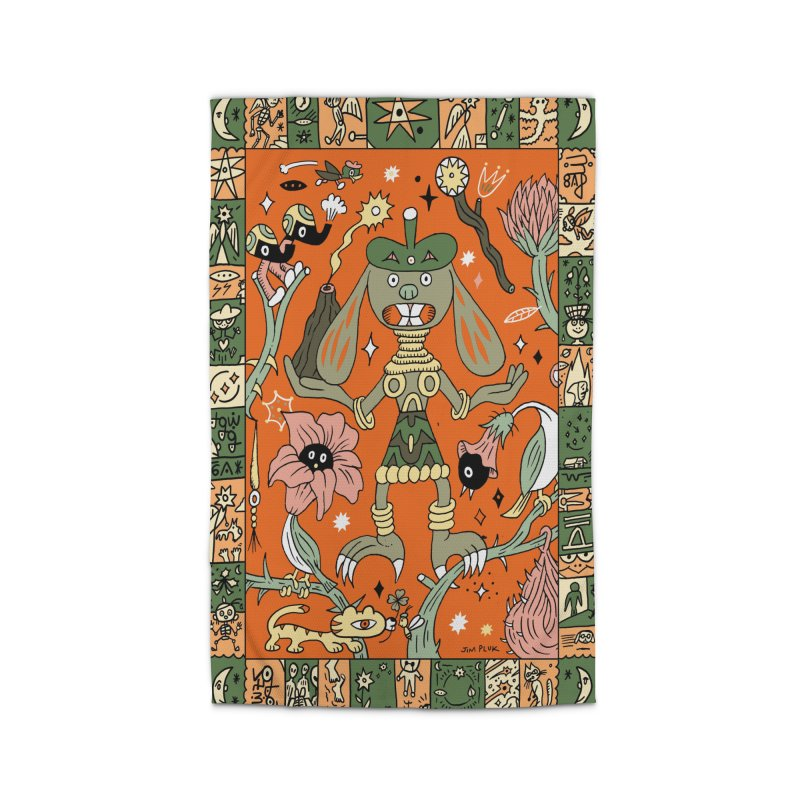 the Tiger and the Bunny (RUG) Home Rug by jimpluk's Artist Shop