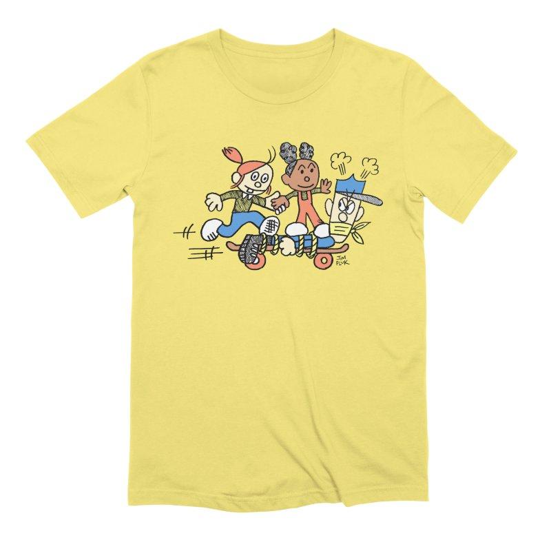policeboarding Men's T-Shirt by jimpluk's Artist Shop