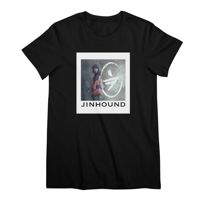 Girl in the mist Women's Premium T-Shirt by jinhound's Artist Shop