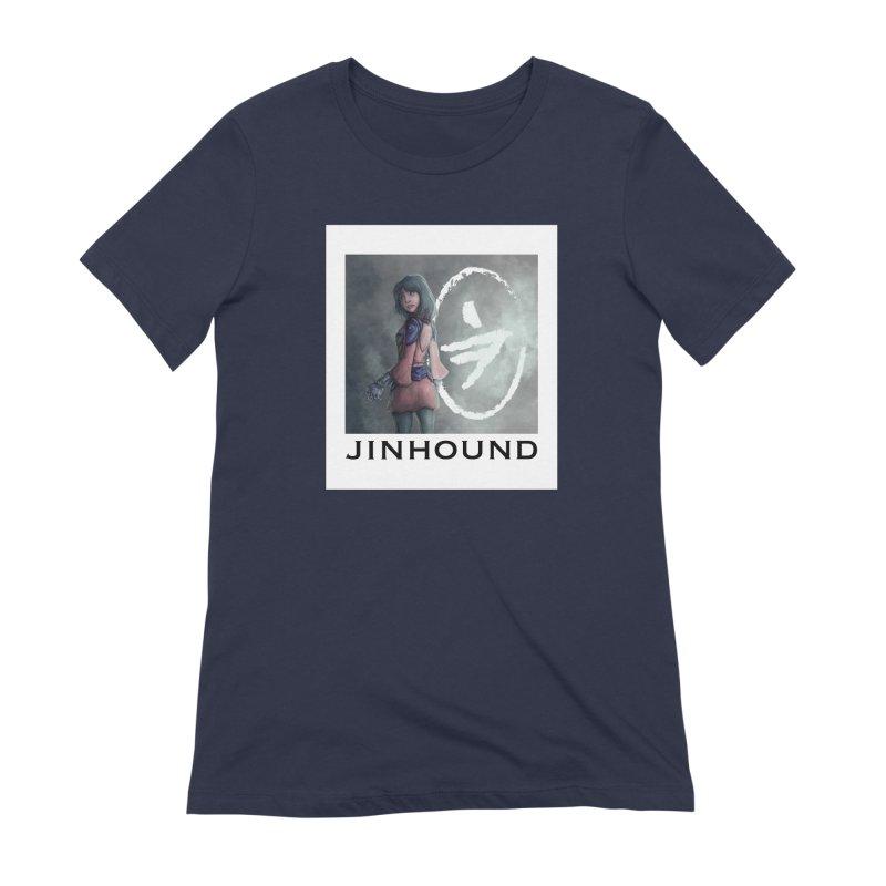 Girl in the mist Women's Extra Soft T-Shirt by jinhound's Artist Shop