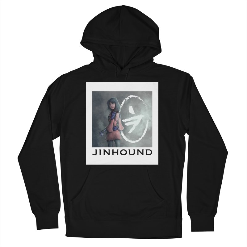 Girl in the mist Women's French Terry Pullover Hoody by jinhound's Artist Shop