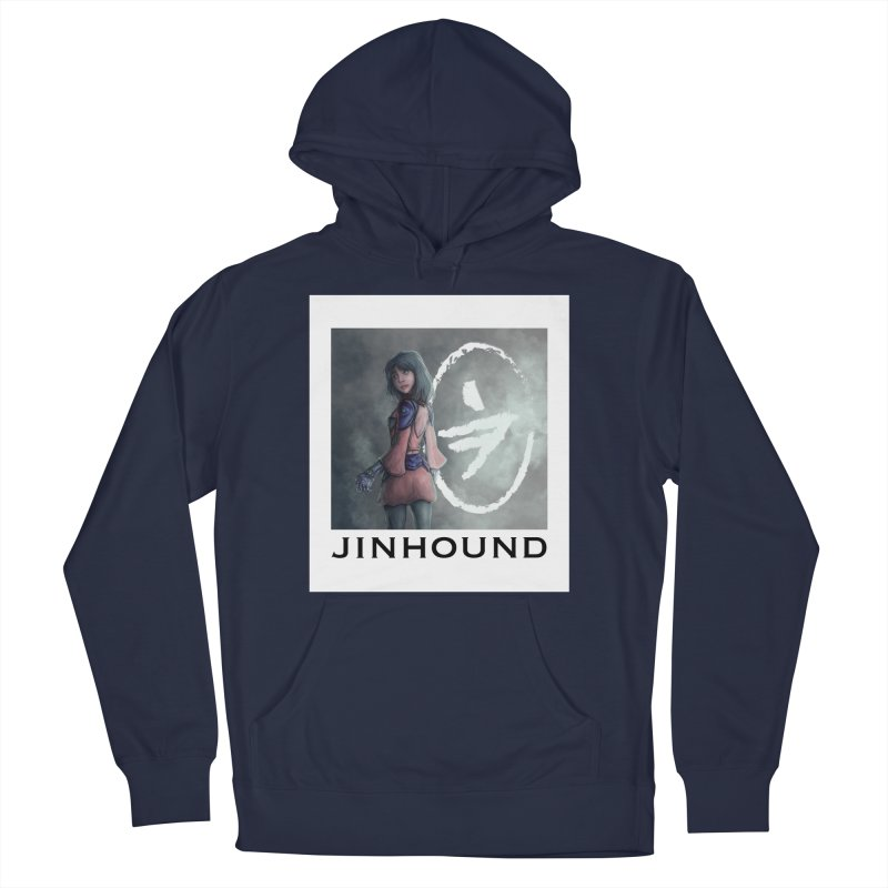 Girl in the mist Men's French Terry Pullover Hoody by jinhound's Artist Shop
