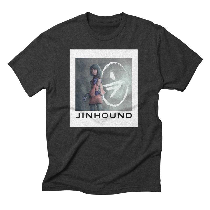 Girl in the mist Men's Triblend T-Shirt by jinhound's Artist Shop